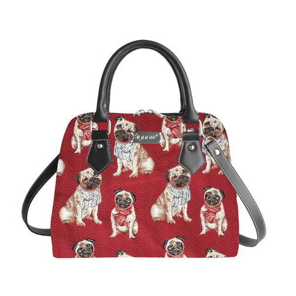 CONV-PUG | Pug Convertible Top Handle Purse Handbag - www.signareusa.com