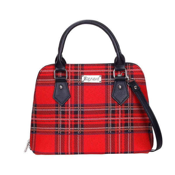 CONV-RSTT | Royal Stewart Tartan Convertible Top Handle Purse Handbag - www.signareusa.com