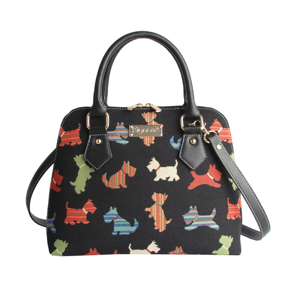 CONV-SCOT | Scottie Dog Convertible Top Handle Purse Handbag - www.signareusa.com
