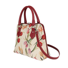 CONV-TULWT | Tulip White Convertible Top Handle Purse Handbag - www.signareusa.com