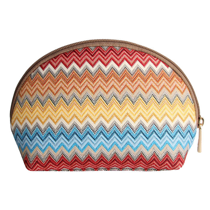 COSM-AZT | Aztec Zigzag Cosmetic Make Up Bag - www.signareusa.com