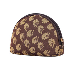 COSM-JANE | Jane Austen Brown Oak Cosmetic Make Up Bag - www.signareusa.com