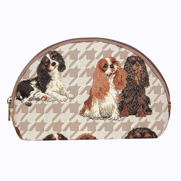 COSM-KGCS | King Charles Cavalier Spaniel Dog Cosmetic Make Up Bag - www.signareusa.com
