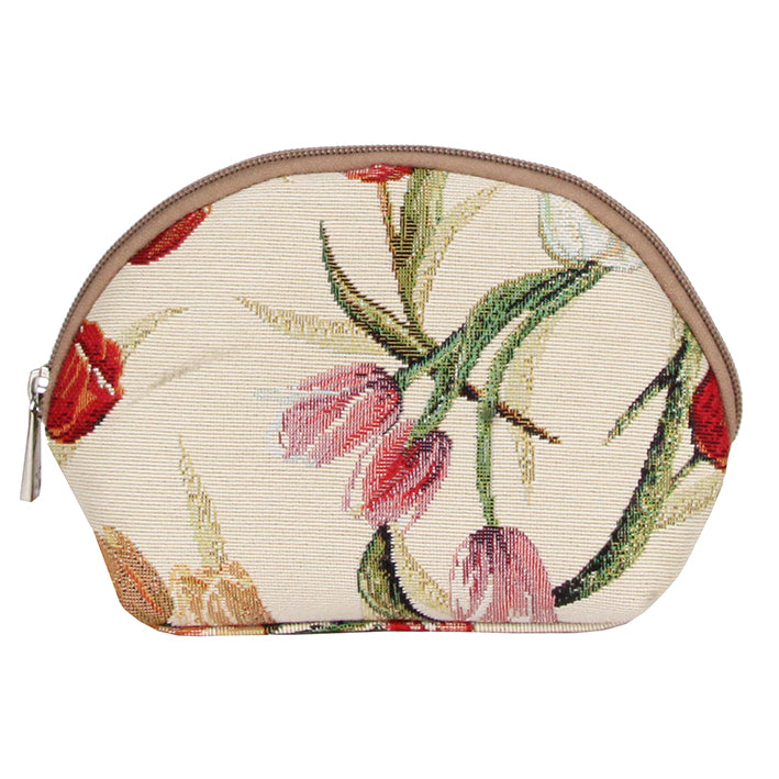 COSM-TULWT | Tulip White Cosmetic Make Up Bag - www.signareusa.com