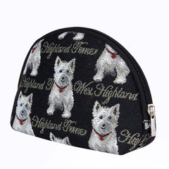 COSM-WES | Westie Dog Cosmetic Make Up Bag - www.signareusa.com