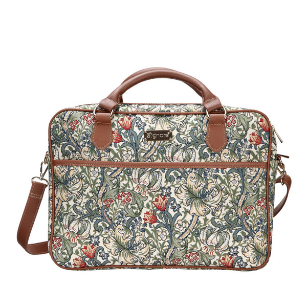 "CPU-GLILY | William Morris Golden Lily Computer Laptop Bag Case 15.6"" - www.signareusa.com"
