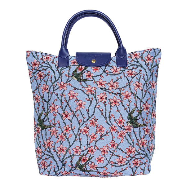 FDAW-BLOS | Almond Blossom And Swallow FOLDAWAY GROCERY BAG