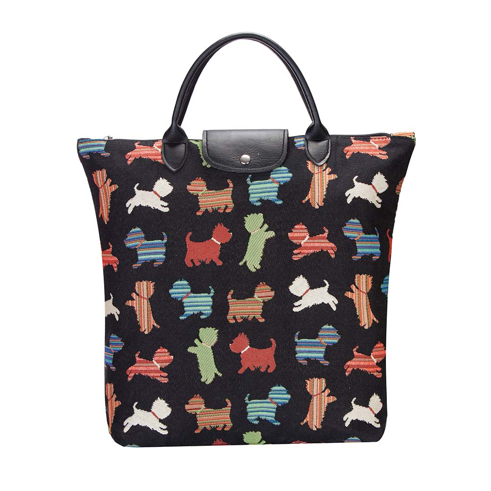 FDAW-SCOT | SCOTTIE DOG FOLDAWAY GROCERY BAG - www.signareusa.com