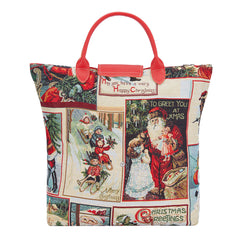 FDAW-XMAS-FATHER| XMAS SANTA FOLDABLE REUSABLE GROCERY BAG