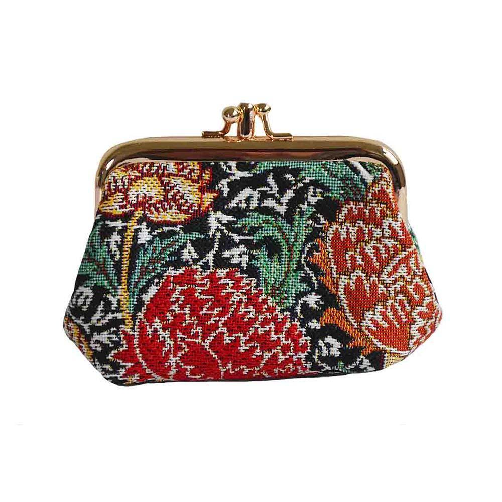 FRMP-CRAY | WILLIAM MORRIS THE CRAY COIN CLASP FRAME PURSE WALLET - www.signareusa.com