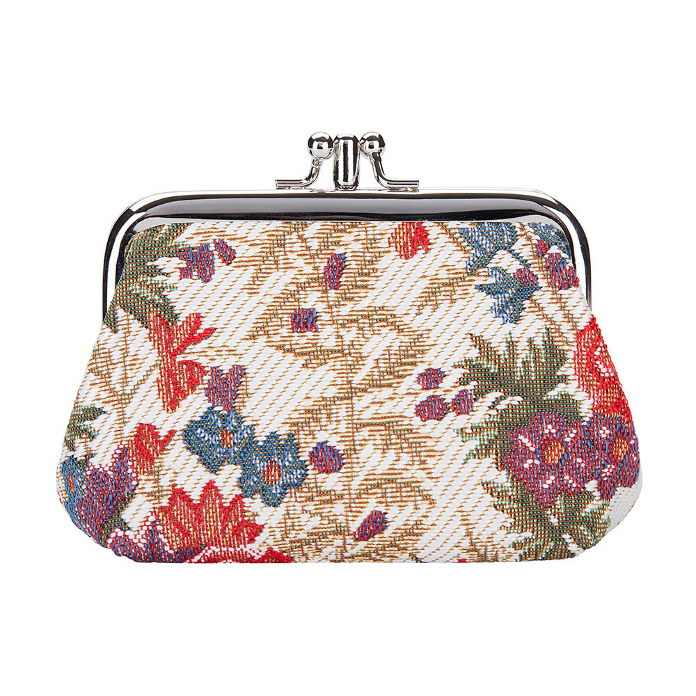 FRMP-FLMD | FLOWER MEADOW COIN CLASP FRAME PURSE WALLET - www.signareusa.com