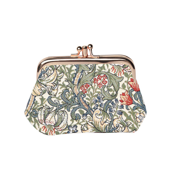 FRMP-GLILY | WILLIAM MORRIS GOLDEN LILY COIN CLASP FRAME PURSE WALLET - www.signareusa.com