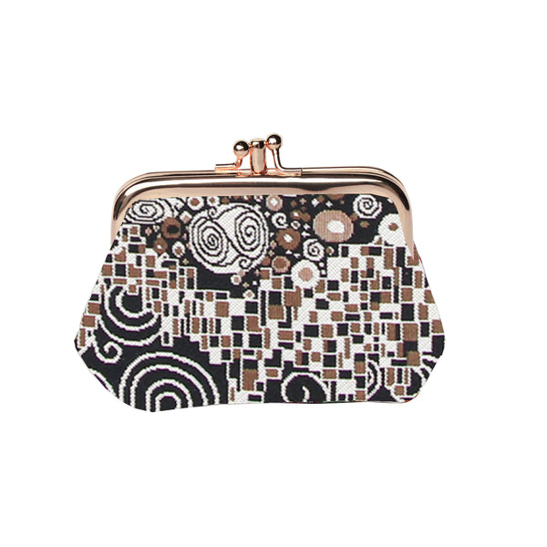 FRMP-KISS | GUSTAV KLIMT THE KISS COIN CLASP FRAME PURSE WALLET - www.signareusa.com