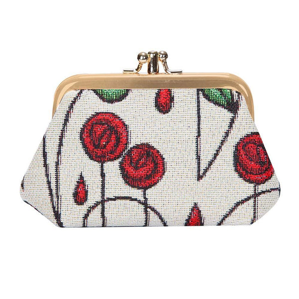 FRMP-RMSP | RENNIE MACKINTOSH SIMPLE ROSE COIN CLASP FRAME PURSE WALLET - www.signareusa.com