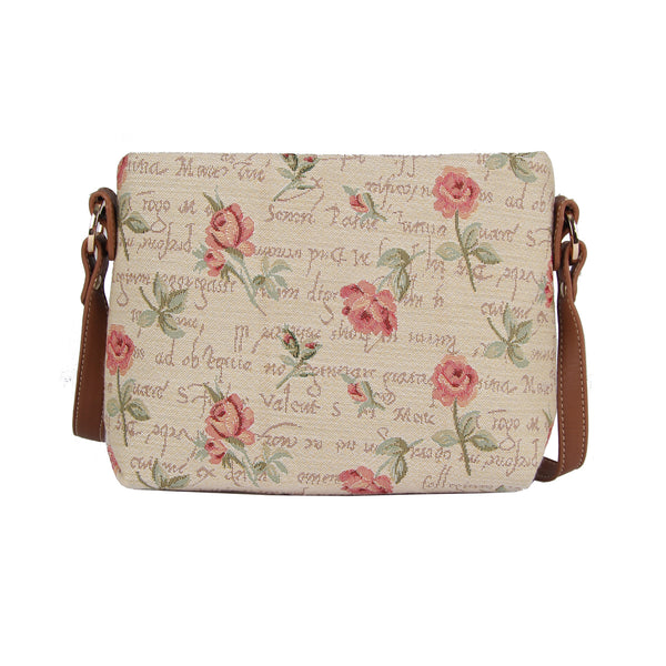 XB02-RSPK | ROSE PINK FLORAL CROSS BODY BAG PURSE HANDBAG - www.signareusa.com
