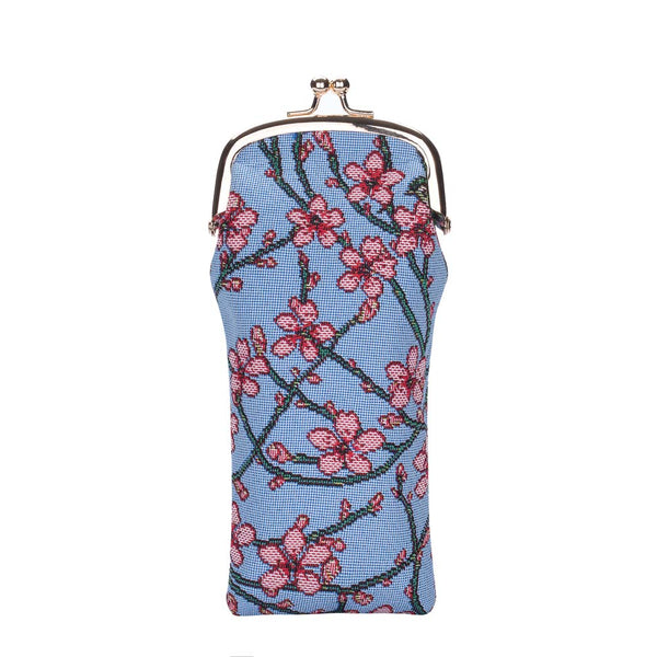 GPCH-BLOS | ALMOND BLOSSOM AND SWALLOW GLASSES SUNGLASSES POUCH CASE - www.signareusa.com