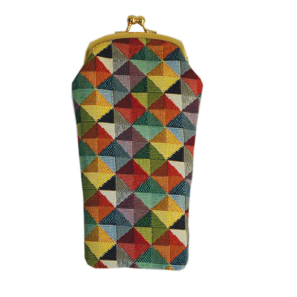 GPCH-MTRI | MULTICOLOR TRIANGLE GLASSES SUNGLASSES POUCH CASE - www.signareusa.com