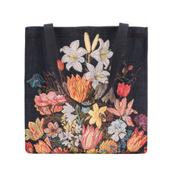 GUSS-ART-AB-STILL | A Still Life of Flowers in a Wan-Li Vase Foldable Gusset Bag - www.signareusa.com