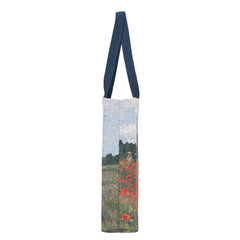 GUSS-ART-CM-POPFL | CLAUDE MONET POPPY FIELD Foldable Gusset Shopping Bag - www.signareusa.com