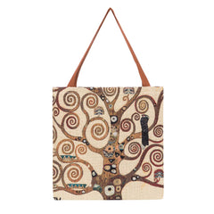 GUSS-ART-GK-TREE | Klimt Tree of Life Foldable Gusset Shopping Bag - www.signareusa.com