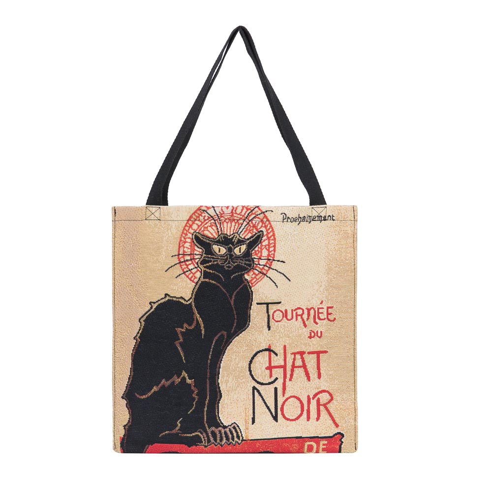 GUSS-ART-TS-CHAT | Steinlen Tournee du Chat Noir Foldable Gusset Shopping Bag - www.signareusa.com