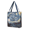 GUSS-ART-VG-STAR | Van Gogh Starry Night Foldable Gusset Shopping Bag - www.signareusa.com