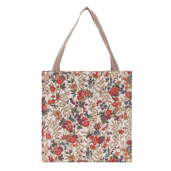 GUSS-FLMD | Flower Meadow Foldable Gusset Bag - www.signareusa.com