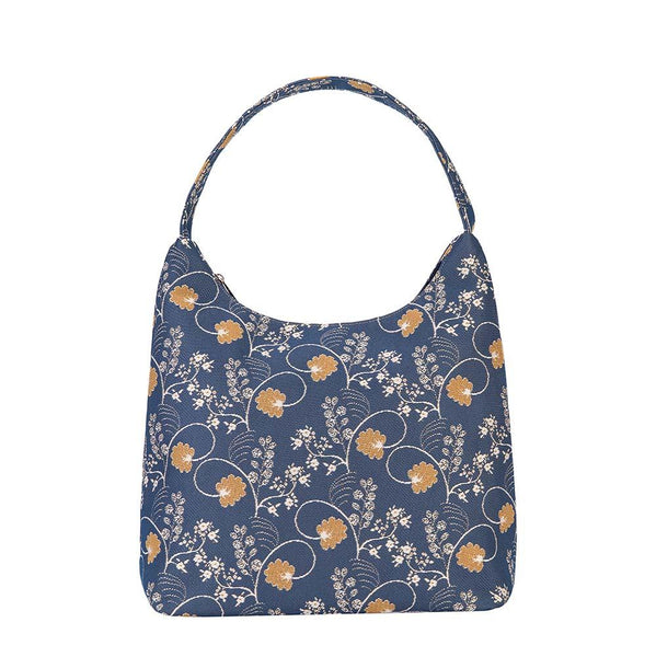 HOBO-AUST | JANE AUSTEN BLUE HOBO HANDBAG SHOULDER BAG - www.signareusa.com