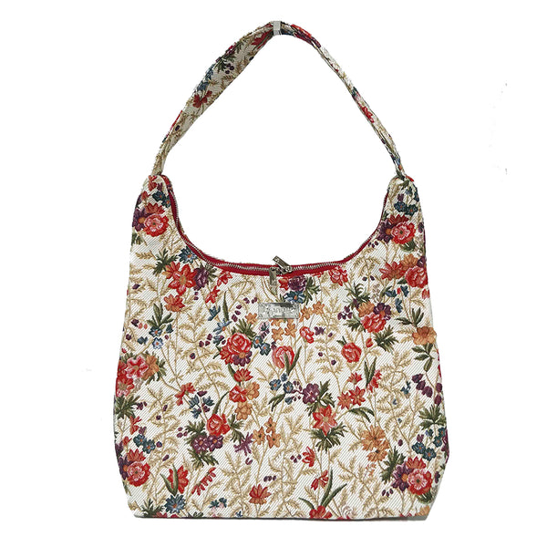HOBO-FLMD | FLOWER MEADOW HOBO HANDBAG SHOULDER BAG