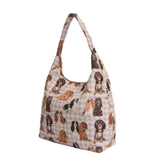 HOBO-KGCS | KING CHARLES CAVALIER SPANIEL DOG HOBO HANDBAG SHOULDER BAG - www.signareusa.com