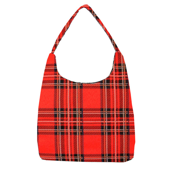 HOBO-RSTT | ROYAL STEWART TARTAN HOBO HANDBAG SHOULDER BAG - www.signareusa.com