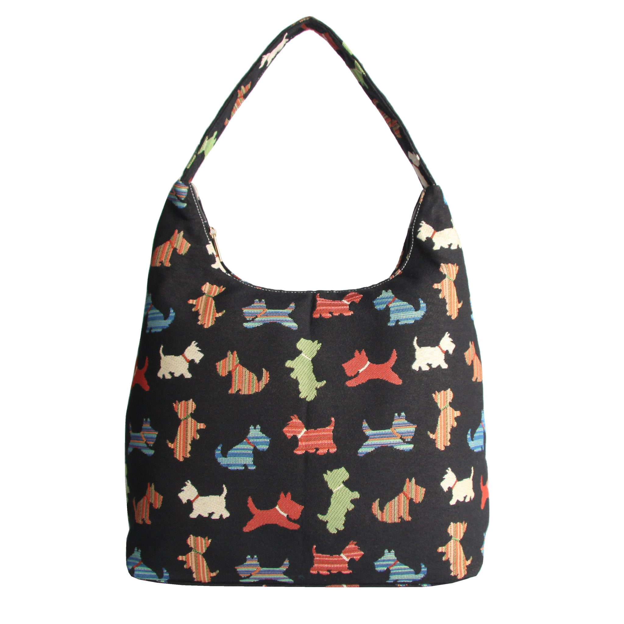 HOBO-SCOT | SCOTTIE DOG HOBO HANDBAG SHOULDER BAG - www.signareusa.com
