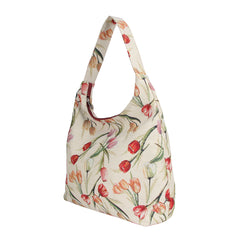 HOBO-TULWT | TULIP WHITE HOBO HANDBAG SHOULDER BAG - www.signareusa.com