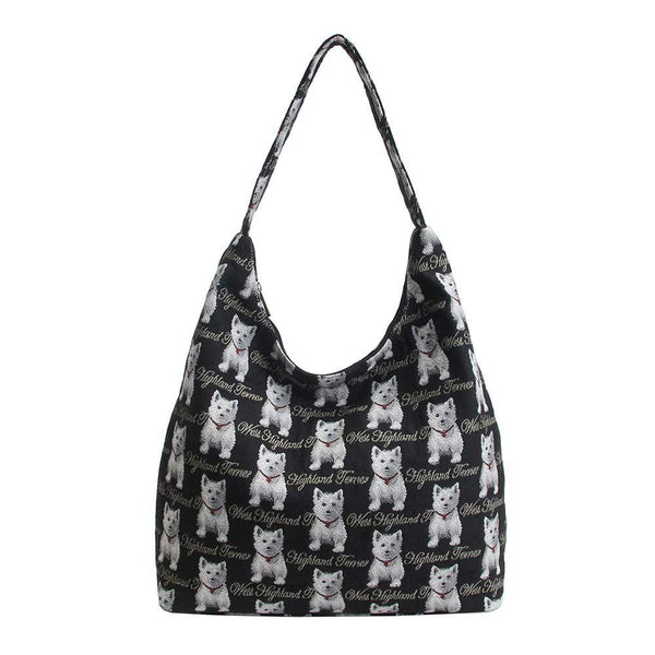 HOBO-WES | WESTIE DOG HOBO HANDBAG SHOULDER BAG - www.signareusa.com