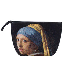 MAKEUP-ART-JV-GIRL | VERMEER GIRL WITH A PEARL EARRING MAKE UP COSMETIC BAG - www.signareusa.com