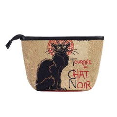 MAKEUP-ART-TS-CHAT | Steinlen Tournee du Chat Noir  MAKE UP COSMETIC BAG - www.signareusa.com