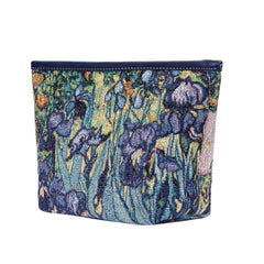 MAKEUP-ART-VG-IRIS | VAN GOGH IRIS  MAKE UP COSMETIC BAG - www.signareusa.com