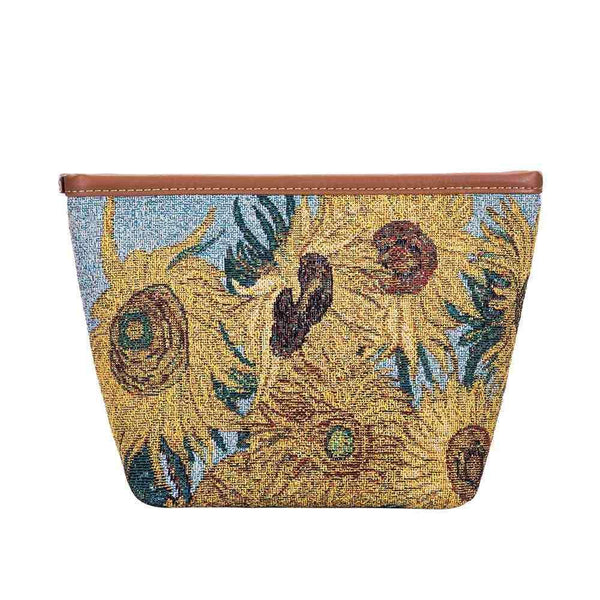 MAKEUP-ART-VG-SUNF | VAN GOGH SUNFLOWERS  MAKE UP COSMETIC BAG - www.signareusa.com