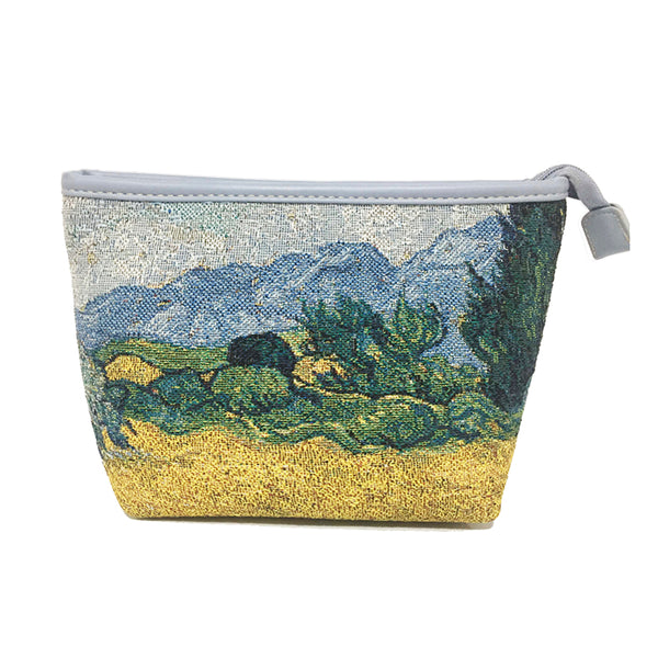 MAKEUP-ART-VG-WHEAT | Van Gogh Wheatfield  MAKE UP COSMETIC BAG - www.signareusa.com