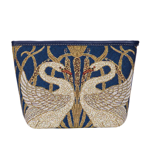 MAKEUP-ART-WC-SWAN | WALTER CRANE SWAN  MAKE UP COSMETIC BAG - www.signareusa.com