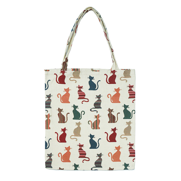 MECO-CHEKY | CHEEKY CAT MEDIUM ECO REUSABLE GROCERY TOTE BAG - www.signareusa.com