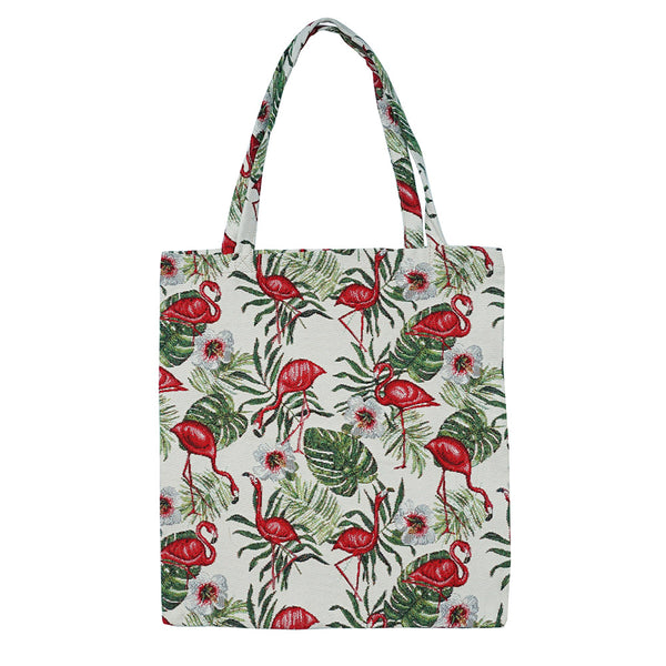 MECO-FLAM | FLAMINGO MEDIUM ECO REUSABLE GROCERY TOTE BAG - www.signareusa.com