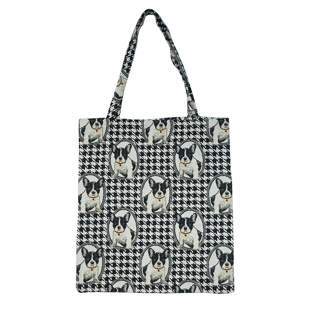 MECO-FREN | FRENCH BULLDOG MEDIUM ECO REUSABLE GROCERY TOTE BAG - www.signareusa.com
