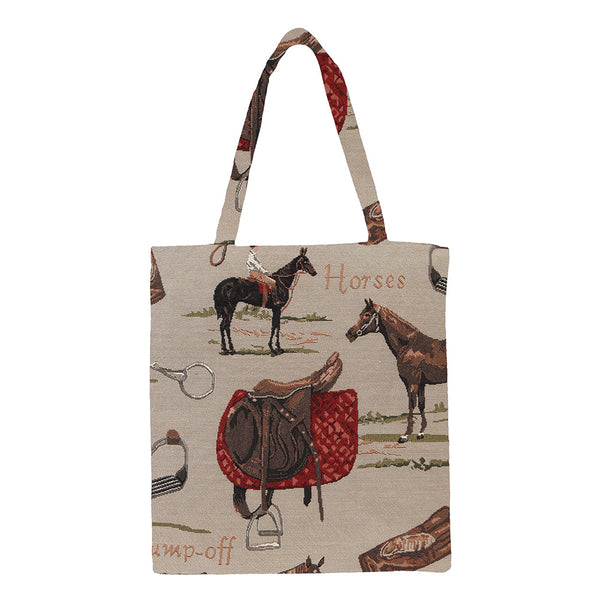MECO-HOR | HORSE MEDIUM ECO REUSABLE GROCERY TOTE BAG - www.signareusa.com