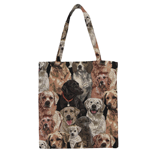 MECO-LAB | LABRADOR DOG MEDIUM ECO REUSABLE GROCERY TOTE BAG - www.signareusa.com