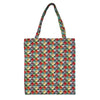 MECO-MTRI | MULTICOLOR TRIANGLE MEDIUM ECO REUSABLE GROCERY TOTE BAG - www.signareusa.com