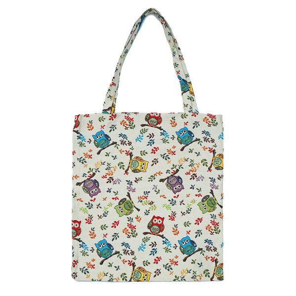 MECO-OWL | OWL MEDIUM ECO REUSABLE GROCERY TOTE BAG - www.signareusa.com