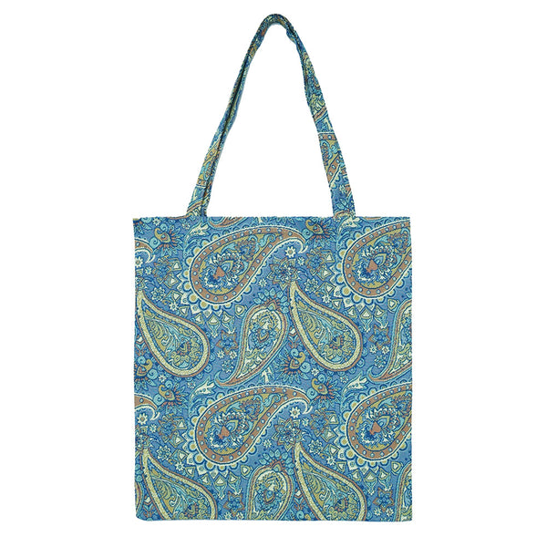 MECO-PAIS | PAISLEY MEDIUM ECO REUSABLE GROCERY TOTE BAG - www.signareusa.com