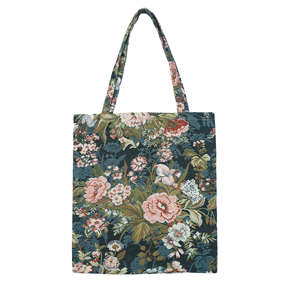 MECO-PEO | PEONY MEDIUM ECO REUSABLE GROCERY TOTE BAG - www.signareusa.com