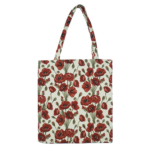 MECO-POP | POPPY MEDIUM ECO REUSABLE GROCERY TOTE BAG - www.signareusa.com